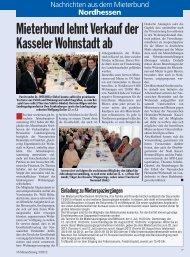 Mieterbund lehnt Verkauf der Kasseler Wohnstadt ab - Deutscher ...