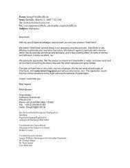 Selected Customer Base - ChemTech International