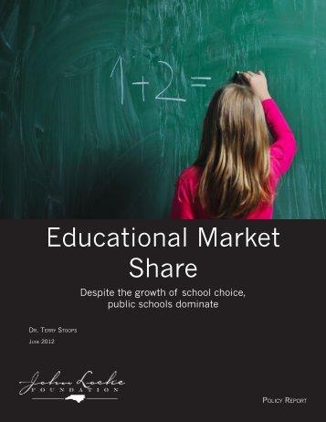 Educational Market Share - John Locke Foundation