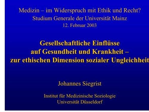 "Seminar ""Unemployment and Public Health"" - Studium generale"