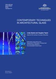 contemporary techniques in architectural glass - International ...