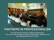 partners in professionalism - American Osteopathic Association