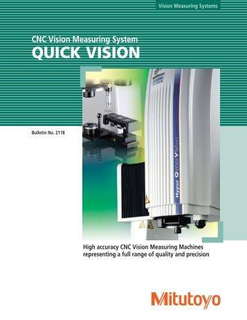 2118 Quick Vision - Mitutoyo America Corporation