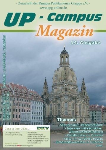 Preissausschreibung - UP-Campus Magazin