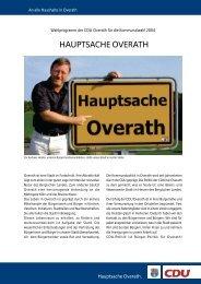HAUPTSACHE OVERATH - CDU Overath