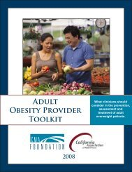 Download Adult Obesity Provider Toolkit - CMA Foundation