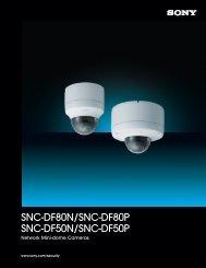 Sony SNC-DF80P network camera (PDF 968k) - Network Webcams