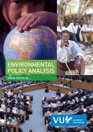 EPA brochure - VU University, Institute for Environmental Studies