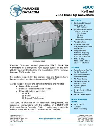 Ka-Band VSAT Block Up Converters