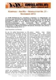 kompass – antira – newsletter nr. 21 - Borderline Europe