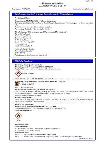 SDB Metaflux 75-18 Glasreiniger-Spray