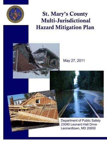 St. Mary's County Multi-Jurisdictional Hazard Mitigation Plan