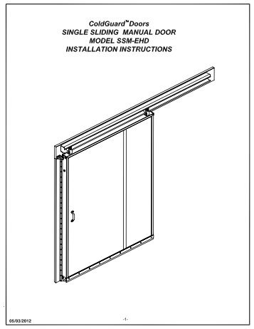 Coldguard sse-ehd e-z op installation manual chase doors.