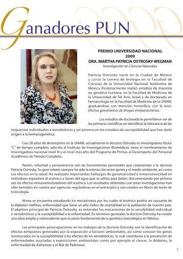Dra.Martha P.Ostrosky - dgapa unam