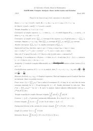 Handout 1 (PDF) - School of Mathematics - University of Leeds