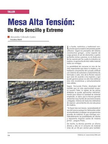 Taller mesa alta tension - Revista El Mueble y La Madera