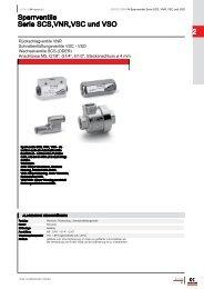 2 Sperrventile Serie SCS,VNR,VSC und VSO