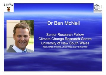 Dr Ben McNeil - Department of Innovation, Industry, Science and ...