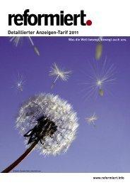 Detaillierter Anzeigen-Tarif 2011 - reformiert.info