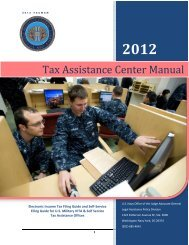 Tax Assistance Center Manual - U.S. Navy Judge Advocate ...