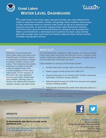 GLERL Great Lakes WATER LEVEL DASHBOARD - GLERL - NOAA