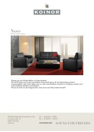 KOINOR - SOFAS FOR FRIENDS: Nove