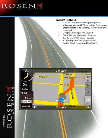 Navigation User's Manual - Rosen