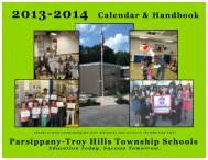 Calendar - the Parsippany-Troy Hills School District
