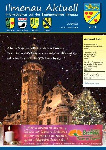 Ilmenau Aktuell - Ausgabe Dezember 2013 (pdf 4,67 MB)