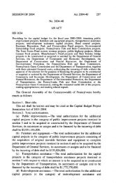 Capital Budget Project Itemization Act of 2003-2004