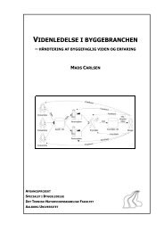 videnledelse i byggebranchen - It.civil.aau.dk - Aalborg Universitet