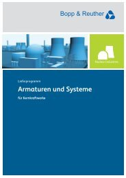 Lieferprogramm Nuclear Industries - Bopp & Reuther Sicherheits ...