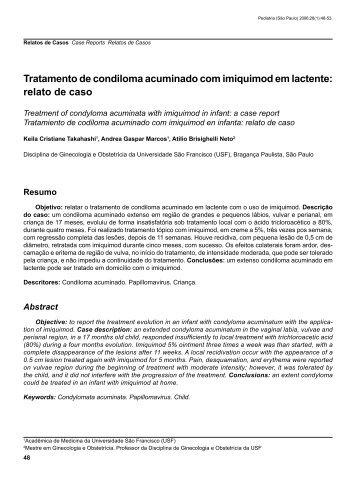 relato de caso - Pediatria (São Paulo)
