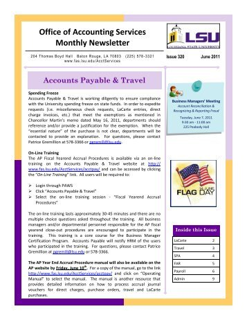 Office Of Accounting Services Monthly Newsletter Happy Holidays