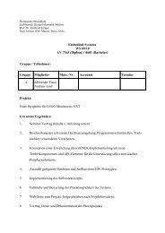 Aufgabenstellung LEGO Sensorhardware[pdf] - Labor für Verteilte ...