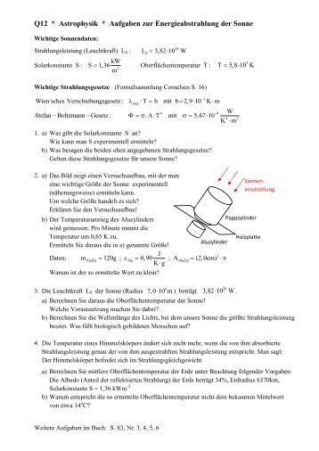Solarkonstante Berechnen : solarkonstante magazine ~ Themetempest.com Abrechnung