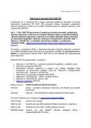 Datum aktualizace: 12.června 2011 - Svaz zdravotních pojišťoven ČR