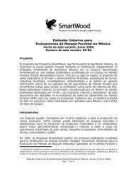 Estándar de Manejo Forestal de SmartWood para México