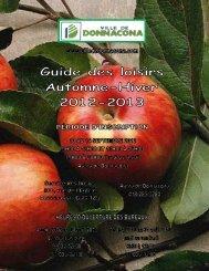 Guide des loisirs automne-hiver 2012-2013 - Ville de Donnacona