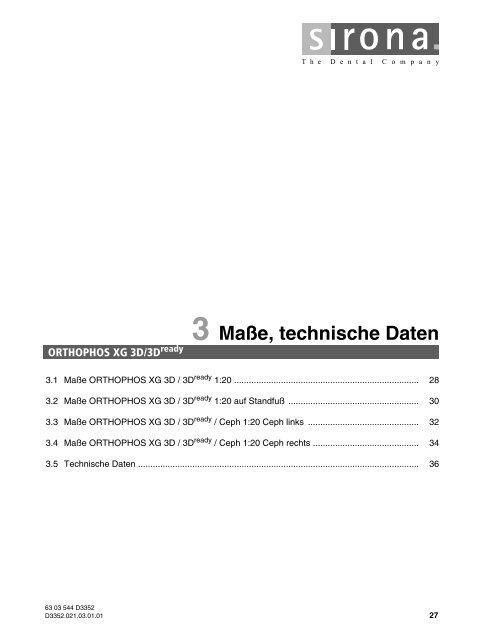 3 Maße, technische Daten - 3d-roentgen.ch