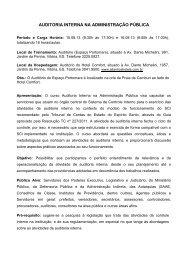 curso Auditoria Interna na Administração Pública - (Fest).