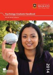 Graduate Psychology Handbook - The University of Waikato