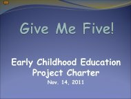 Early Childhood Project Charter - School District U-46