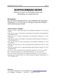 Kopfschmerz-News 1/2013