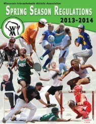 Spring Edition - Wisconsin Interscholastic Athletic Association