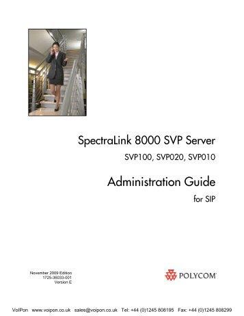SpectraLink NetLink SVP020 Installation Configuration And Administration