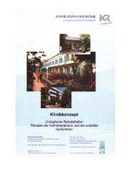 188 Einzelzimmer, 10 Doppelzimmer - Klinik Reinhardshöhe