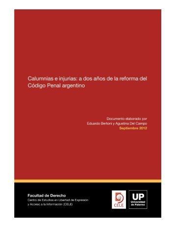 Calumnias e Injurias: a dos años de la Reforma del Código Penal
