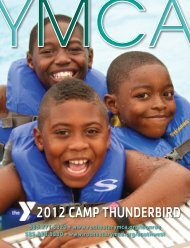 2012 CAMP THUNDERBIRD - YMCA of Greater Rochester