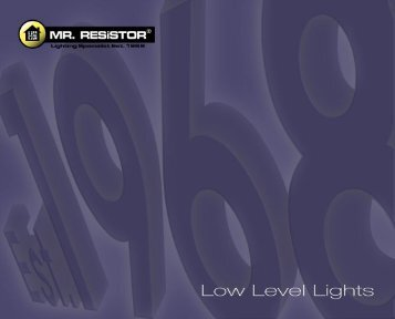 Catalogue - Low Level Lights - Mr RESISTOR